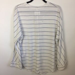 Rails Tops - Rails NWT Lily Positano Lace-Up Linen Blend Top